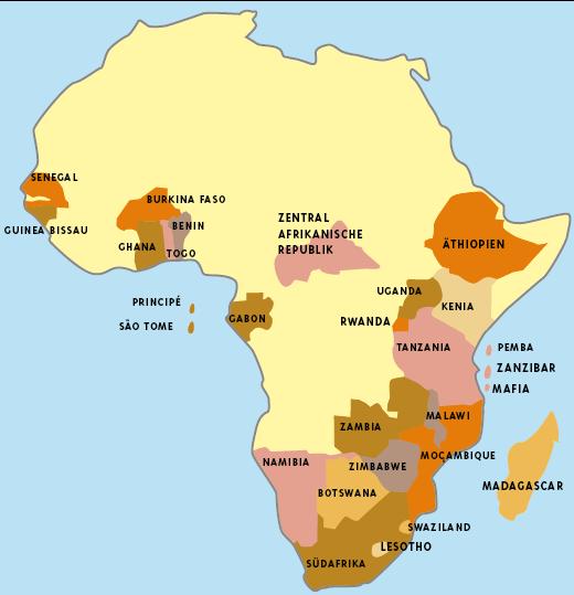 Karte Afrika.A M Africa Tours Karten